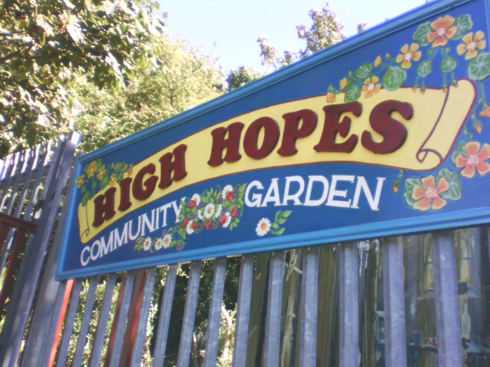 High Hopes Sign