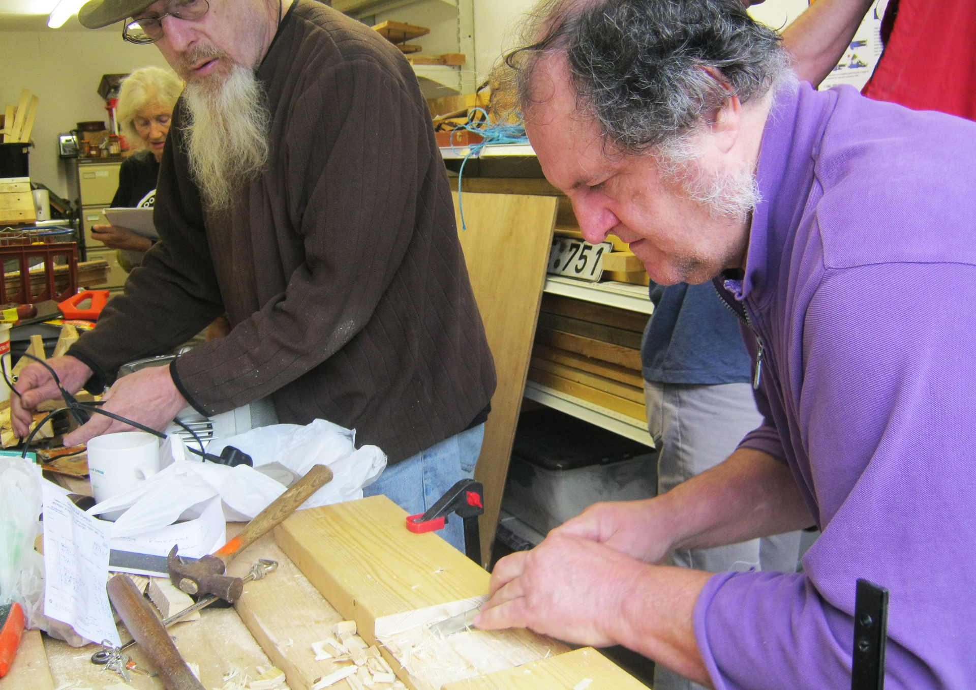 Chiseling - Men in Sheds workshop