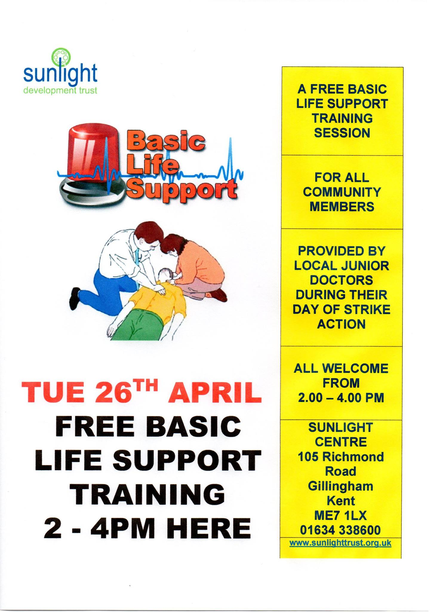 Free life support training