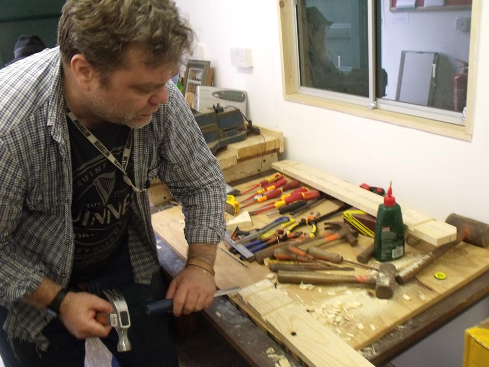 Making wall mounted tool rack