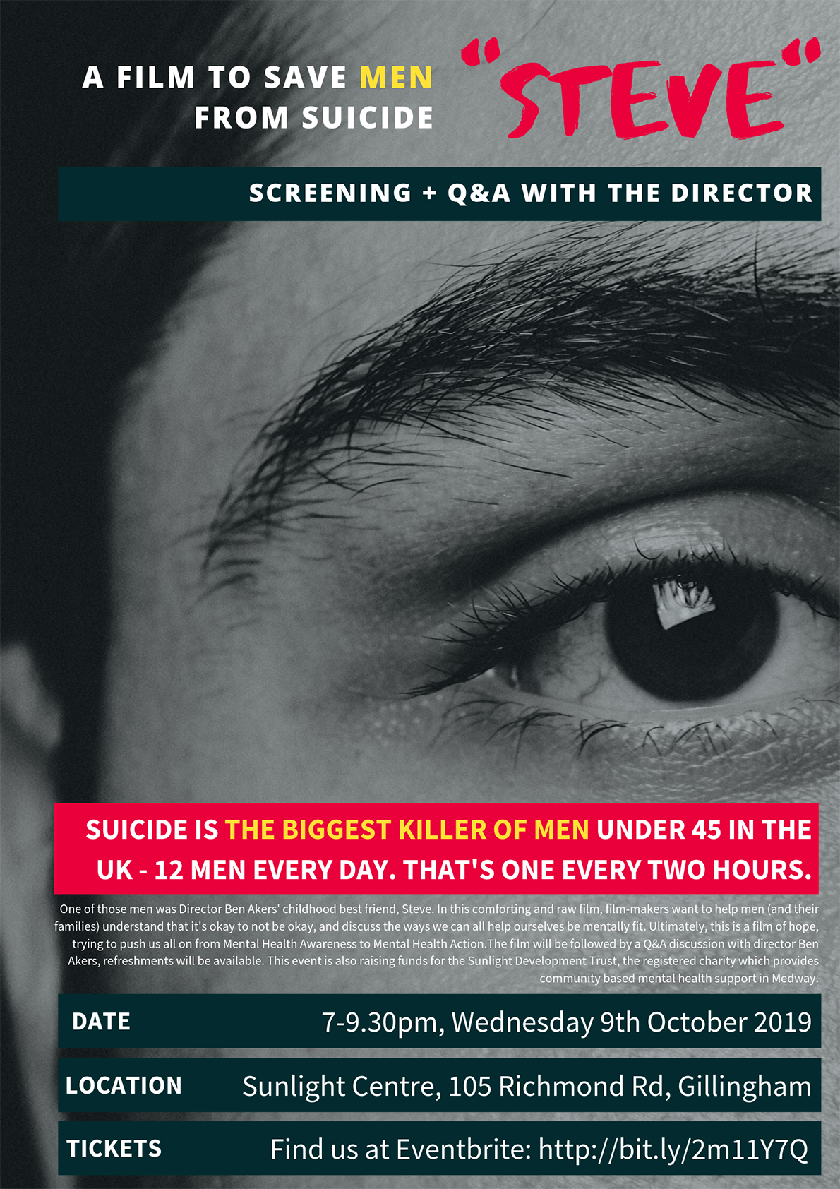 Steve: a film to save men from suicide